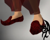 [P] Slippers Red Silk
