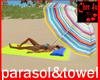 sunparasol & beachtowel
