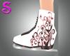 Pink Floral Skates