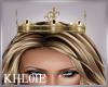K queen crown gold