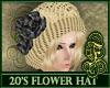 20's Hat Black Roses