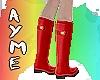 Rainy UK Boots [red]