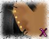 ~AA~ Gold Onyx Earrings