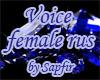Voice rus (Female)