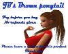 JB's Brown ponytail