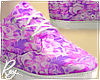Violet Floral Shoes