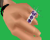 5 Stone Ring /Amethyst