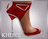 K dea red silv heels