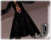 !! Black Leather Coat M
