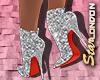 Louboutin Bootie:Glitter