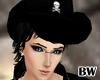 Black Cowboy Hat Skull