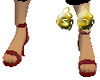 BloodRed Leather Sandals
