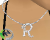R Letter Necklace Name