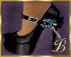 teal & Black shoes
