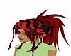 Red black anime hair