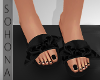 ṩ| Bow Slippers Blk