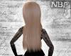 Long blonde base hair