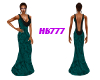 HB777 Drape Dress Tl/Bk