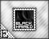 [E] Black Haired Stamp