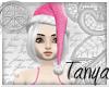 }T{ Pink Santa hat