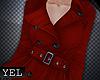 [Yel] Dark red coat