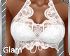 Sky White Lace Top