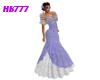 HB777 SFF Gown Blu/Slvr
