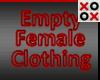 Empty Clothing Female
