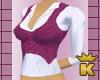 {K} Plum Vest /w shirt