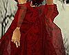 Scarlet Beaded Shawl