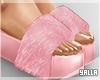 Fur High Slides PINK