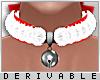0 | Fur Bell Bow Choker