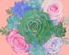 Pastel Succulents+Roses