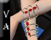 VA Gold & Red Bracelet L
