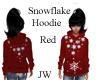 JW Snowflake Hoodie Red