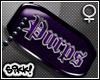 602 Purps Dog Tag F