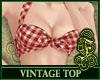 Vintage Top Red