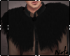 Black Fur Shrug