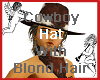 Cowboy Hat w Blonde Hair