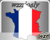 wzn France Flag-Map