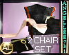 2 CHAIR COUPLES SET