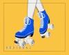 刃. Blue Roller Skate