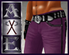 X Purple Muscle Jeans