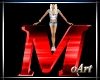 Letter M red With Pose
