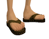 {3DF}SNAKE SKIN SANDALS