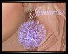 Puff Earrings - Lilac