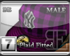 [BE]PurplePlaid|Fitted M