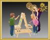 Children & Easel*