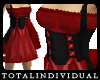 Short Red Pirate Dress