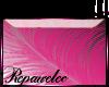 *R* Pink Feather Sticker